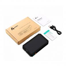 Внешний аккумулятор Aukey Dual USB Port Solar Battery 12000 мАч, черный, фото 2