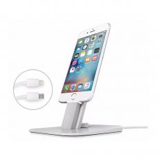 Подставка Twelve South HiRise V2, для iPhone и iPad Mini, серебристый, фото 1