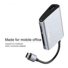 Переходник Baseus Enjoyment series USB-C к SD+TF, серый, фото 1