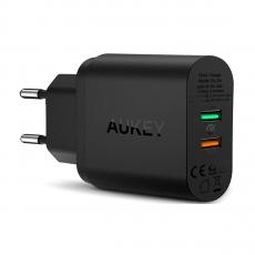 Сетевое зарядное устройство Aukey, 33 Вт, черное, фото 1