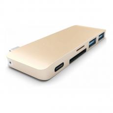 фото товара Алюминиевыи? USB-хаб Satechi Type-C (сквознои? порт питания) USB 3.0 Золотои? (B019PHF9UO)