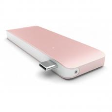 фото товара Алюминиевыи? USB-хаб Satechi Type-C (сквознои? порт питания) USB 3.0 Розовое золото ST-TCUPR