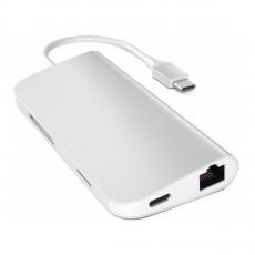фото товара Переходник Satechi Aluminum Type-C Multi-Port Adapter (4K HDMI, сквозной порт питания) серебро