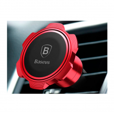 Автомобильный держатель Baseus Gyro Magnet Air Vent Car Mount, красный, фото 3