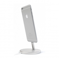 Док-станция Satechi Aluminum Lightning Charging Stand, для iPhone, серебристый, фото 2
