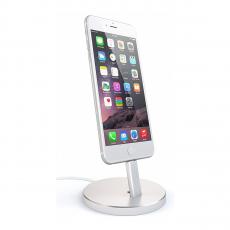 Док-станция Satechi Aluminum Lightning Charging Stand, для iPhone, серебристый, фото 3