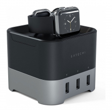 Док-станция Satechi Smart Charging Stand, для Apple Watch, серый, фото 1