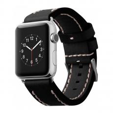 Кожаный ремешок Cozistyle Leather Band для Apple Watch, черный-фото