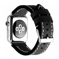 Кожаный ремешок Cozistyle Leather Band для Apple Watch, черный, фото 1