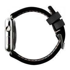 Кожаный ремешок Cozistyle Leather Band для Apple Watch, черный, фото 2