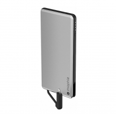 Накладка-батарея Mophie Powerstation Plus Mini 4000 мАч для чехла Hold Force, серебряная-фото