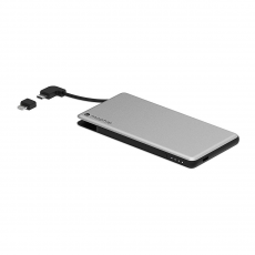 Накладка-батарея Mophie Powerstation Plus Mini 4000 мАч для чехла Hold Force, серебряная, фото 2
