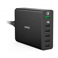 Сетевое зарядное устройство Anker PowerPort+ 6, черное - фото