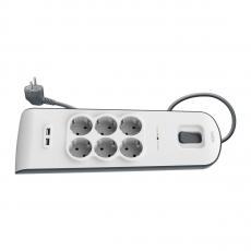 Сетевой фильтр Belkin Surge Protectors, 6 розеток + 2 USB-A, белый, фото 2