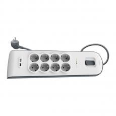 Сетевой фильтр Belkin Surge Protectors, 8 розеток + 2 USB-A, белый, фото 3