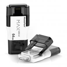 Флеш-накопитель PhotoFast 64GB i-FlashDrive MAX G2 U3, белый, фото 1
