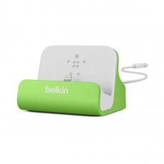 Док-станция Belkin Charge + Sync Dock для iPhone 5/6, зеленая-фото