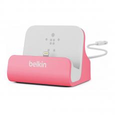 Док-станция Belkin Charge + Sync Dock для iPhone 5/6, розовая-фото