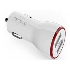 Автомобильное зарядное устройство Anker PowerDrive 2, 2 USB-A, 2.4A, белый, фото 1