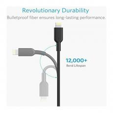 Автомобильное зарядное устройство Anker Powerdrive 2 Elite, USB-A, кабель на Lightning, 4.8 А, чёрный, фото 3