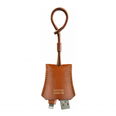 Брелок с Lighting-кабелем Native Union Lightning Tag Cable Leather, коричневый-фото
