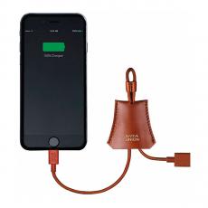 Брелок с Lighting-кабелем Native Union Lightning Tag Cable Leather, коричневый, фото 1