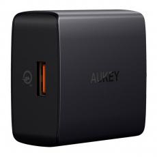 Сетевое зарядное устройство Aukey Wall Charger, USB-A, 18W, чёрный, фото 1