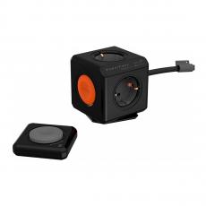 Сетевой фильтр Allocacoc PowerCube Extended Remote, 4 розетки, 1.5 метра, чёрный, фото 1