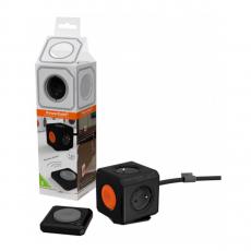Сетевой фильтр Allocacoc PowerCube Extended Remote, 4 розетки, 1.5 метра, чёрный, фото 2