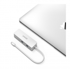 Хаб Anker Premium USB-C Hub with Ethernet and Power Delivery, серебристый, фото 2