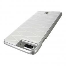 Чехол кожаный Mercedes Pattern lll для iPhone 7 Plus/8 Plus, белый, фото 3