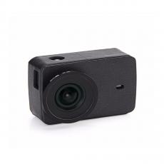 Кожаный чехол + УФ-защитная крышка объектива для Xiaomi Yi 2 4K, черные, фото 1