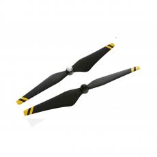 Набор пропеллеров для Phantom 3 9450 Carbon Fiber, чёрные с желтыми полосками-фото