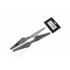 Набор пропеллеров для Phantom 3 9450 Carbon Fiber черные, желтые полосы, фото 2