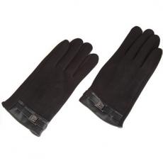Кашемировые перчатки iCasemore Clasp с пряжкой (черный), фото 1