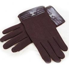 Кашемировые перчатки iCasemore Clasp с пряжкой (коричневый), фото 1