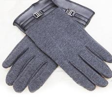 Кашемировые перчатки iCasemore Clasp с пряжкой (серый), фото 1