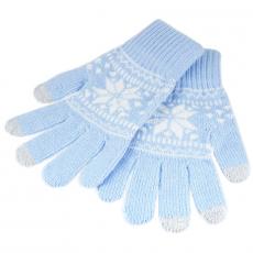 Перчатки для емкостных дисплеев Touch Gloves 21 см (голубой/белый), фото 1