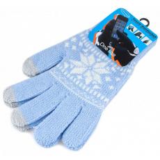 Перчатки для емкостных дисплеев Touch Gloves 21 см (голубой/белый), фото 2