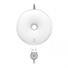 Беспроводное зарядное устройство Baseus Donut Wireless Charger, белое-фото