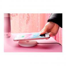 Беспроводное зарядное устройство Baseus Donut Wireless Charger, розовое, фото 2