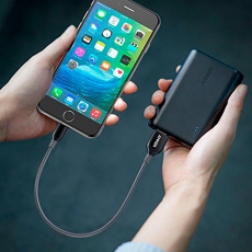 Кабель Anker PowerLine+, с USB-A на Lightning, 30 см, кевлар, 6000+ перегибов, серый, фото 5