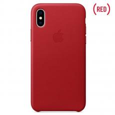 Кожаный чехол Apple для iPhone X, красный, фото 1