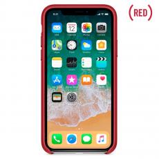 Кожаный чехол Apple для iPhone X, красный, фото 2