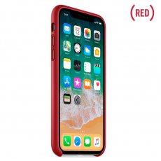 Кожаный чехол Apple для iPhone X, красный, фото 3