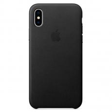 Кожаный чехол Apple для iPhone X, черный, фото 1