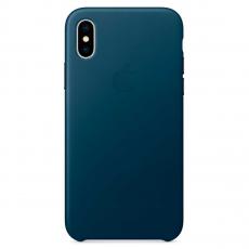 """Кожаный чехол Apple для iPhone X, «космический синий"""", фото 1"""