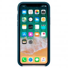 """Кожаный чехол Apple для iPhone X, «космический синий"""", фото 2"""