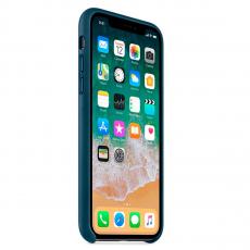 """Кожаный чехол Apple для iPhone X, «космический синий"""", фото 3"""