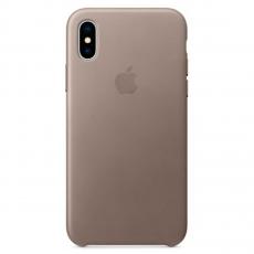 "Кожаный чехол Apple для iPhone X, «платиново-серый"", фото 1"